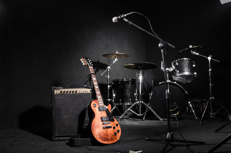 Photo for Set of musical instruments during concert - Royalty Free Image