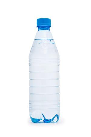 Foto de Water bottle isolated on the white - Imagen libre de derechos