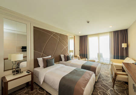 Photo for Hotel room with modern interior - Royalty Free Image