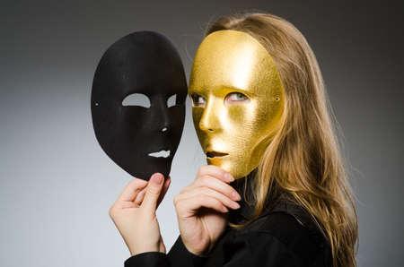 Foto de Woman with mask in funny concept - Imagen libre de derechos