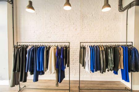 Foto de Interior of fashion clothing shop - Imagen libre de derechos