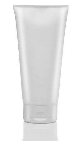 Foto de White tube of cream or gel. Cosmetics. Isolated - Imagen libre de derechos