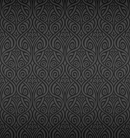 Illustration for Seamless Ornamental Wallpaper  - Royalty Free Image