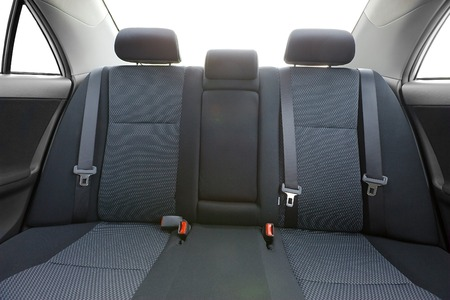 Foto de Car interior with back seats, sunlight flaring through - Imagen libre de derechos