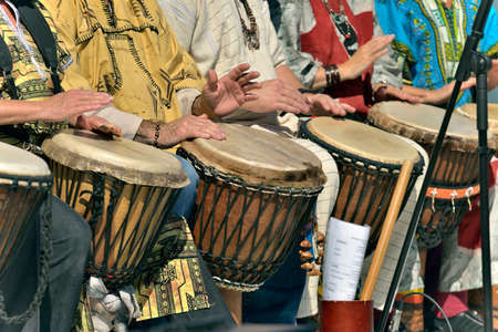Photo for jembe player in group - Royalty Free Image