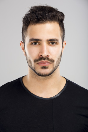 Photo for Portrait of a beautiful latin man with a serious expression - Royalty Free Image
