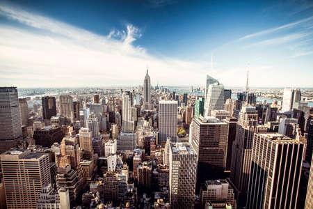 Photo pour Top view of New York City, Top of the Rock - image libre de droit