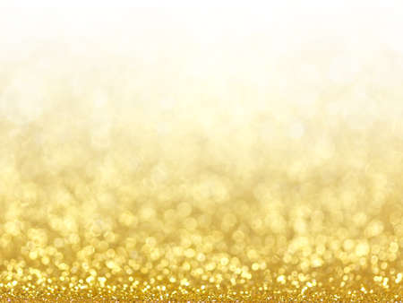 Foto de Gold Festive Christmas background. Abstract twinkled bright background with bokeh defocused golden lights - Imagen libre de derechos