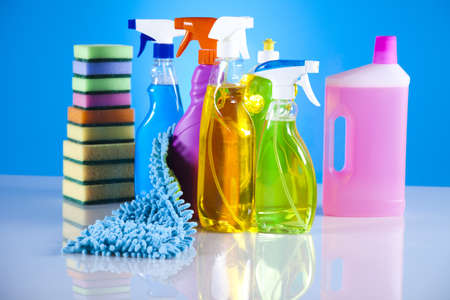 Photo pour Group of assorted cleaning  - image libre de droit