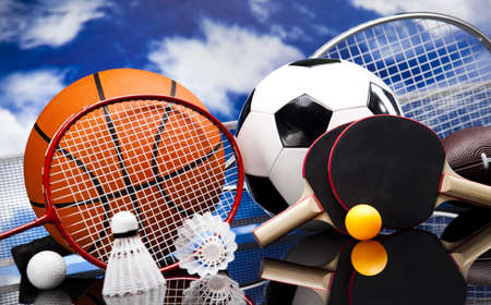 Photo for Assorted sports equipment - Royalty Free Image