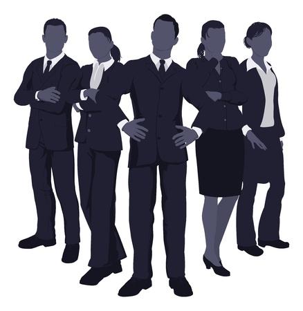 Foto de Illustration of a young dynamic smart business team - Imagen libre de derechos