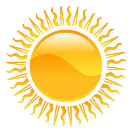 Ilustración de Weather icon clipart sun illustration - Imagen libre de derechos