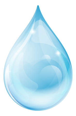 Illustration pour An illustration of a water drop or rain drop - image libre de droit