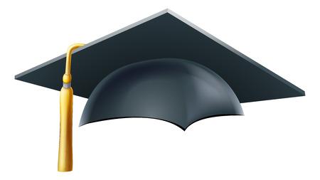Illustration pour An illustration of a Graduation or convocation mortar board hat or cap - image libre de droit