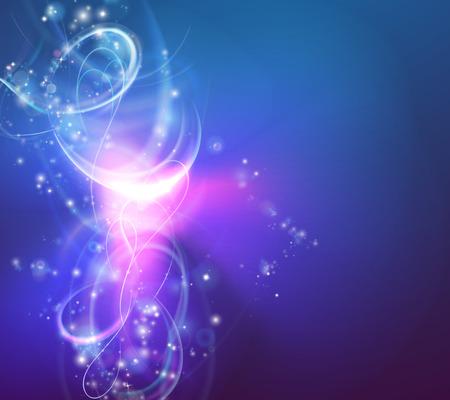 Ilustración de A modern abstract light swirl background with electric vortex shapes - Imagen libre de derechos