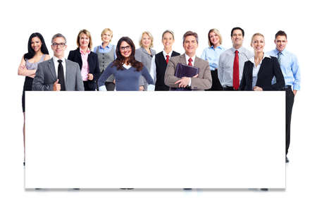Photo pour Group of business people. Isolated over white background. - image libre de droit