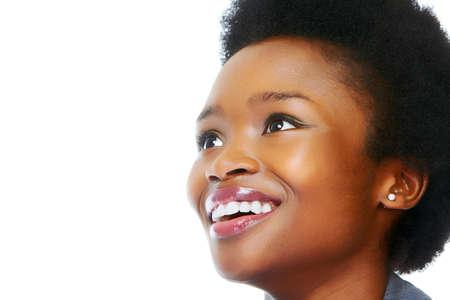 Photo pour Face of african business woman - image libre de droit