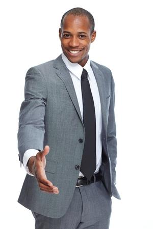 Foto de African-American businessman handshake. - Imagen libre de derechos