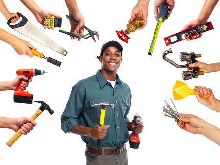 Foto de Construction worker with tools - Imagen libre de derechos