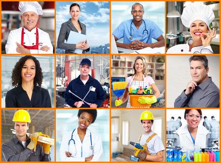 Foto de Workers people collage. - Imagen libre de derechos