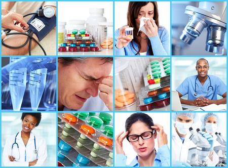 Foto de Medical collage. - Imagen libre de derechos