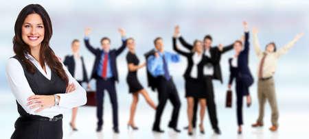 Photo pour Group of happy people workers. - image libre de droit