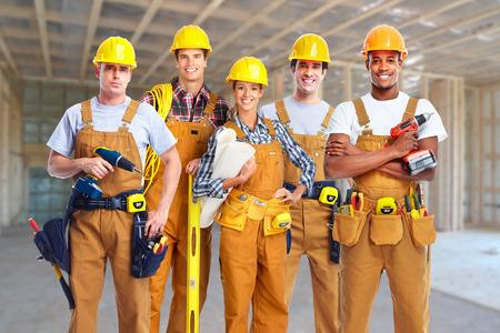 Foto de Group of construction workers. - Imagen libre de derechos
