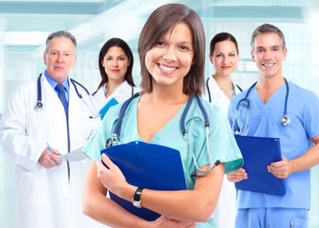 Photo pour Health care medical doctor woman. - image libre de droit