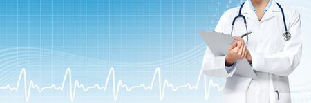 Foto de Medical physician doctor hands. Healthcare banner. - Imagen libre de derechos