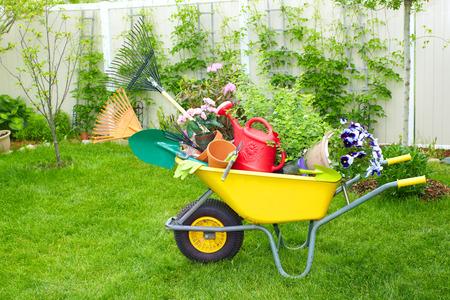 Photo pour Gardening tools. - image libre de droit