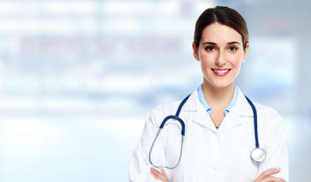 Photo for Medical doctor woman. - Royalty Free Image
