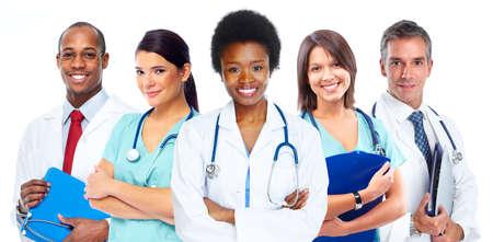 Foto de Group of medical doctors. Health care concept background. - Imagen libre de derechos
