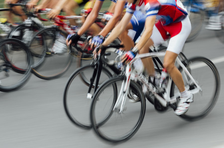 Photo for Bicycle Race in blurred motion - Royalty Free Image