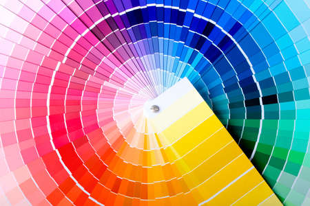 Photo pour Close-up view of a color chart used for paint selection - image libre de droit