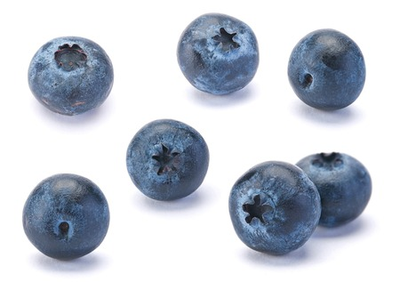 Photo for Sweet Blueberry berry closeup isolated on white background - Royalty Free Image