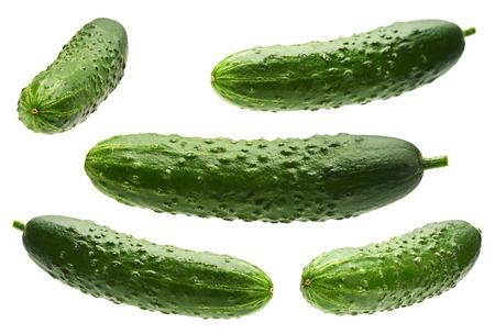 Photo pour Cucumber set isolated on white background - image libre de droit