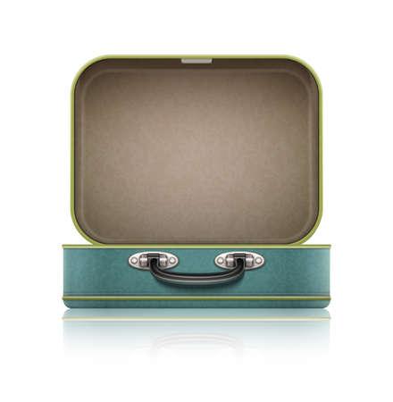 Foto de Open old retro vintage suitcase for travel. - Imagen libre de derechos