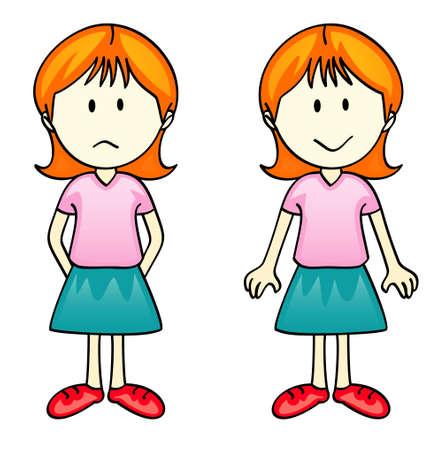 Vector Comic Character - Girl
