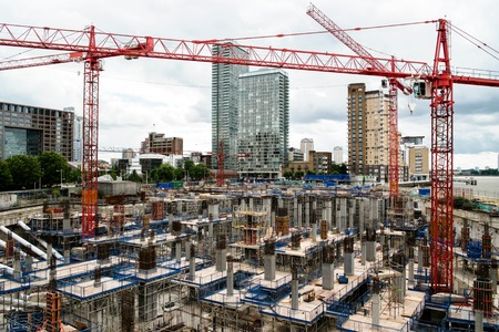 Photo for Construction yard in a modern city - Royalty Free Image