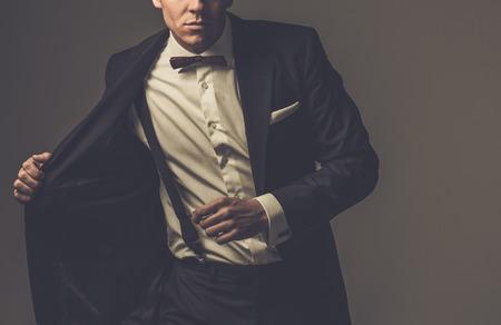 Foto de Sharp dressed man wearing jacket and bow tie - Imagen libre de derechos