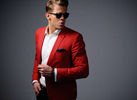 Photo for Stylish man in red jacket - Royalty Free Image