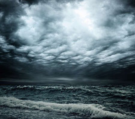 Photo for Stormy sky over an ocean - Royalty Free Image