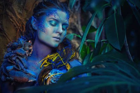 Photo for Avatar woman in a magical forest - Royalty Free Image