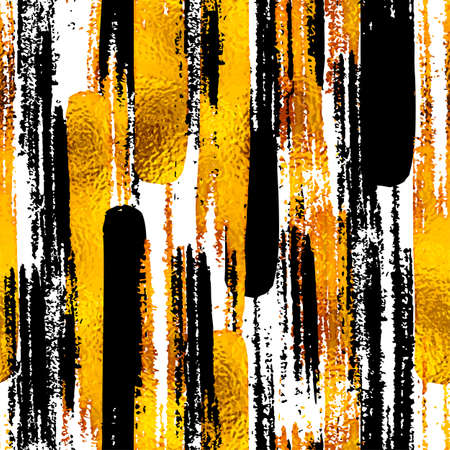 Photo for Seamless trendy blog background textures with hand drawn gold and black ink design elements. Vector Eps10 illustration doodle sketch - Royalty Free Image