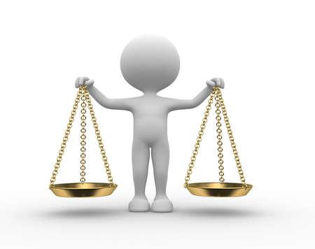 Photo pour 3d people - man, person with balance. - image libre de droit