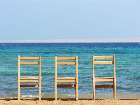 chairs. sea.