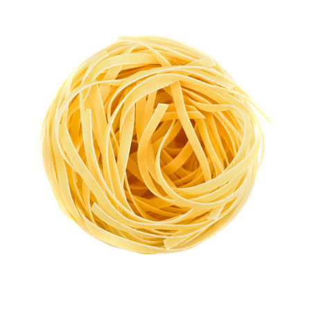 Foto de Nest pasta. View from top isolated on white background - Imagen libre de derechos