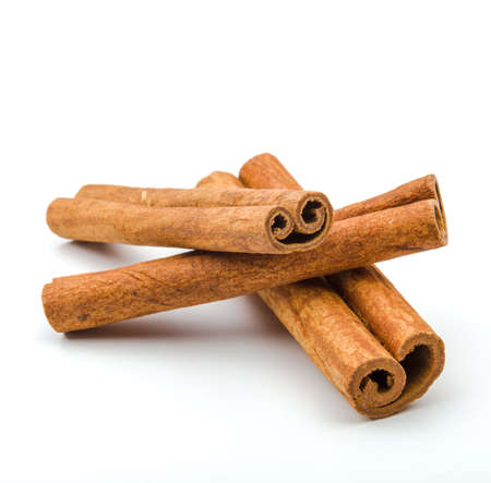 Photo for Cinnamon sticks  isolated on white background. - Royalty Free Image