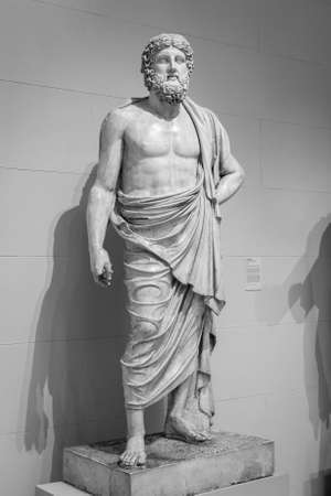 Photo for Ancient greek statue of a man. - Royalty Free Image