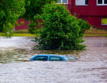 Photo for Flooded street - Royalty Free Image